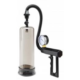 Большая вакуумная помпа с эрекционным кольцом Pistol-Grip Power Pump