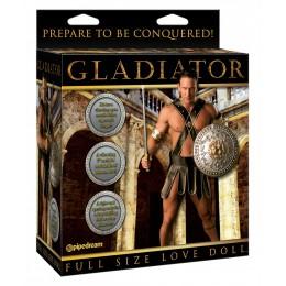 Кукла-мужчина с языком и фаллосом Gladiator Love Doll с вибрацией