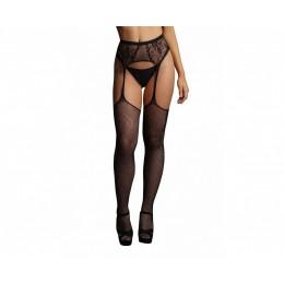 Колготки с имитацией чулок и пояса Fishnet And Lace Garterbelt Stockings SL