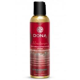 Вкусовое массажное масло DONA Kissable Massage Oil Strawberry Souffle (110 мл)
