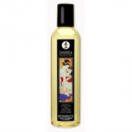 Возбуждающее съедобное массажное масло Shunga Romance с ароматом клубники и шампанского (250 мл)