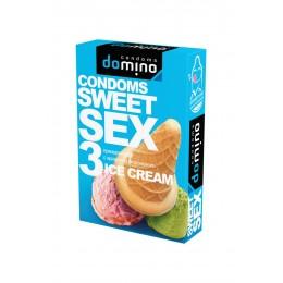 Гладкие презервативы Luxe DOMINO SWEETSEX со вкусом мороженого (3 шт)