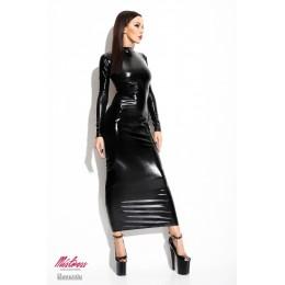 Длинное платье под винил открытое сзади Dorothea LXL