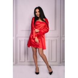 Красный атласный комплект Jacqueline SM