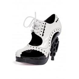 Лакированные туфли на шнуровке с фигурным каблуком 38 (SALE -50%)