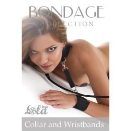 Ошейник для женщин  с отстегивающимися поводком и фиксаторами для рук Collar and Wristbands
