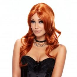 Парик из длинных кудрявых рыжих волос Ruby